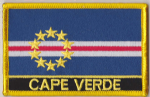 Cape Verde Embroidered Flag Patch, style 09.